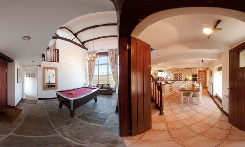 Kitchen and Pool Room